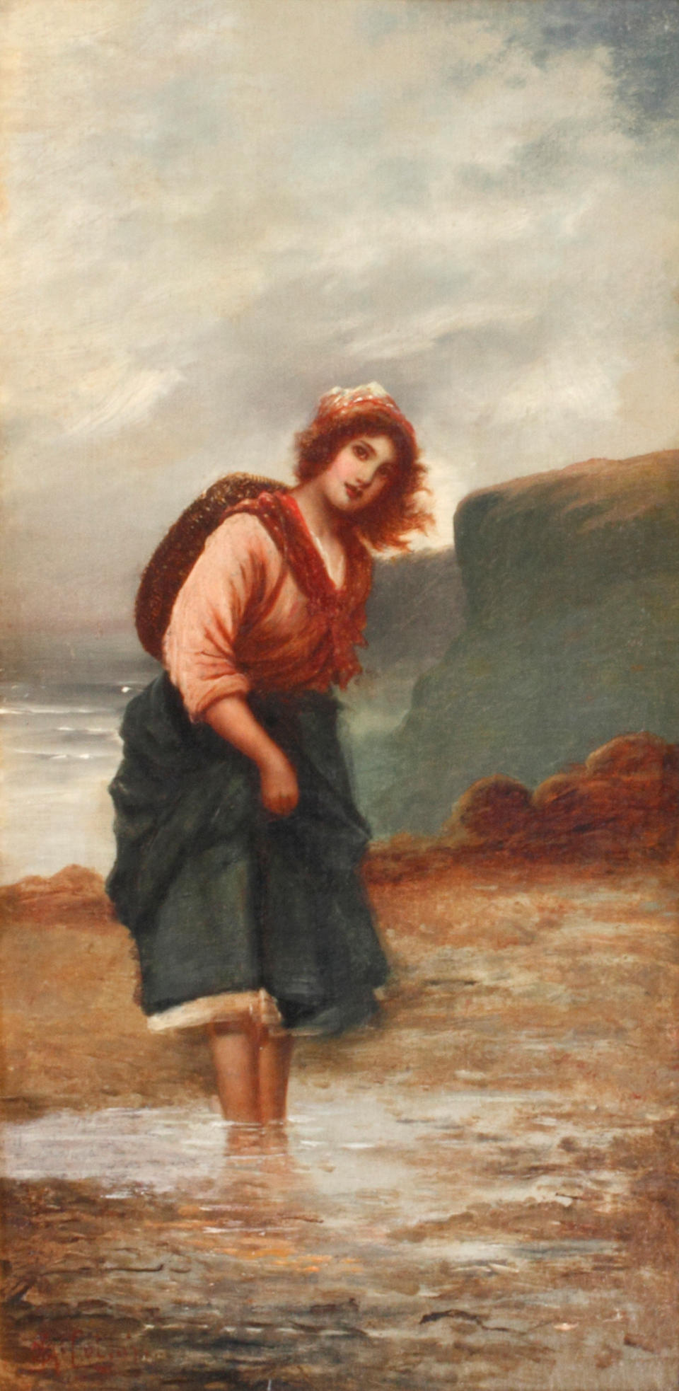John McColvin (British) Country maid; and Cockle picker (a pair)
