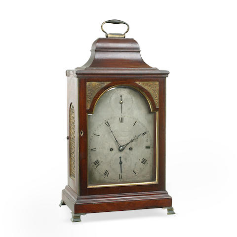 A George III mahogany bracket clock