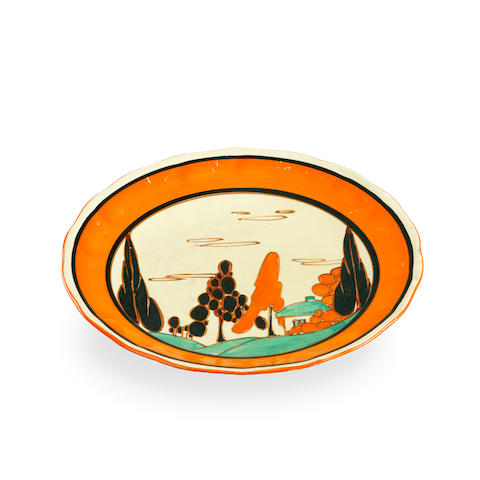 Two Clarice Cliff Fantastque plates circa 1930
