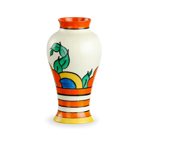 A Clarice Cliff Bizarre vase in  Latona pattern  circa 1930