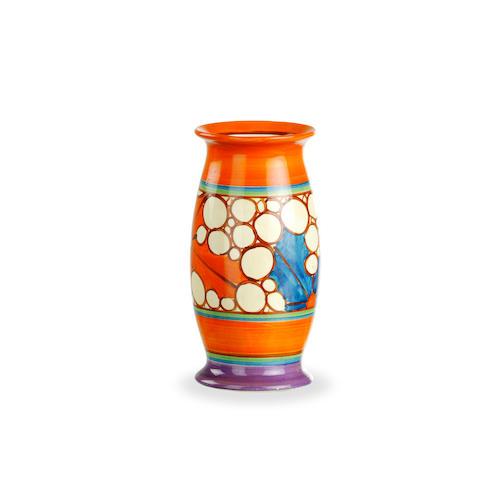 A Clarice Cliff Bizarre vase in Broth pattern circa 1930.