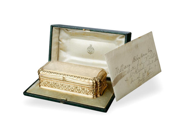 A fine and rare Victorian 18 carat Tasmanian gold snuff box Edward Smith, Birmingham 1858, with The Sydney Royal Mint stamp to the rim.