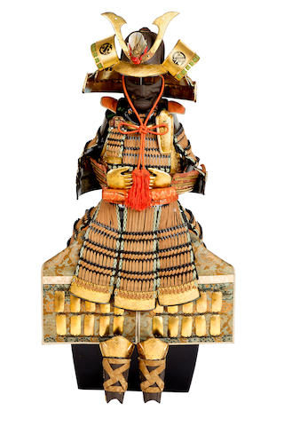 A Japanese Boy's Day Samurai suit of armour 20th century