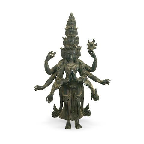 A Sino-Tibetan bronze  Avalokiteshvara 18th/19th century