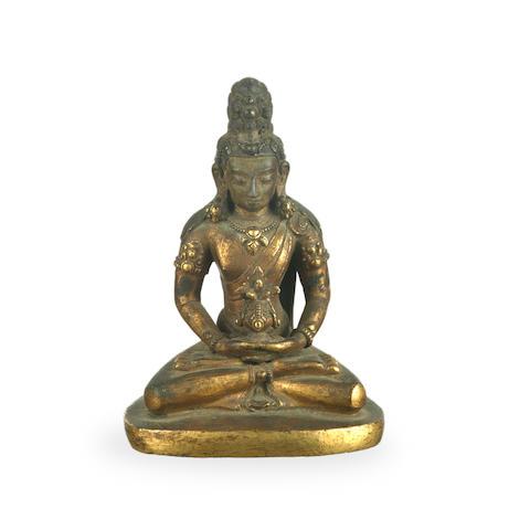 A Sino-Tibetan gilt bronze Avalokiteshvara, 19th century