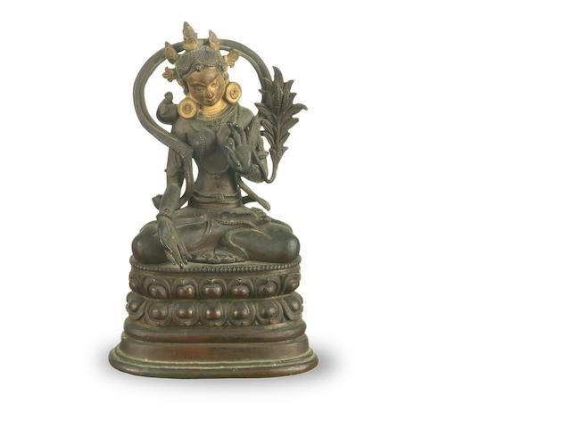 A Sino-Tibetan bronze Tara 19th century