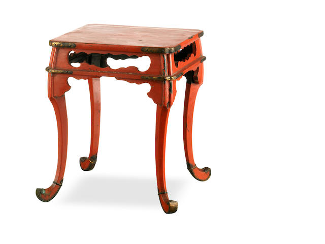 A late 19th century Japanese lacquered altar table