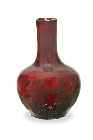 A Chinese flambé glazed bottle vase 19th century