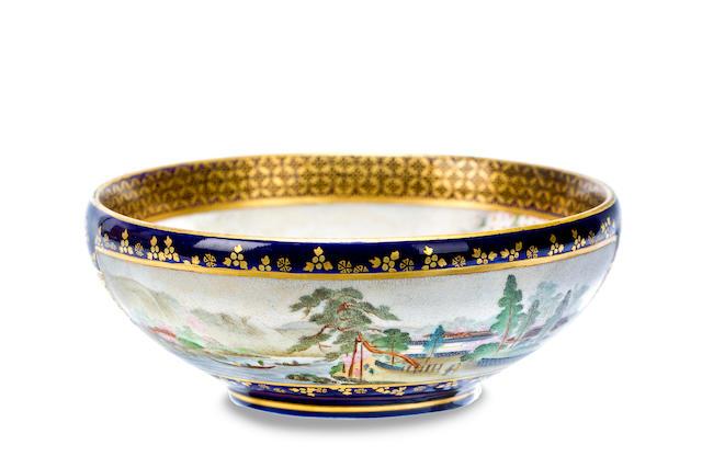 A Satsuma bowl by Kinkozan, Meiji
