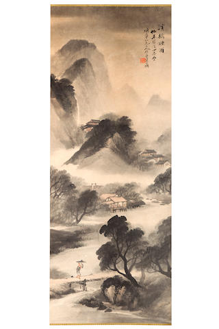 Wu Shixian (1845-1916) Misty Mountain Landscape dated spring of jiacheng (1904)