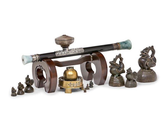 A Chinese opium set  19th and 20th century