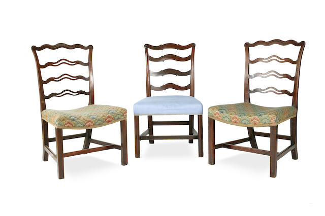 A pair of George III single chairs