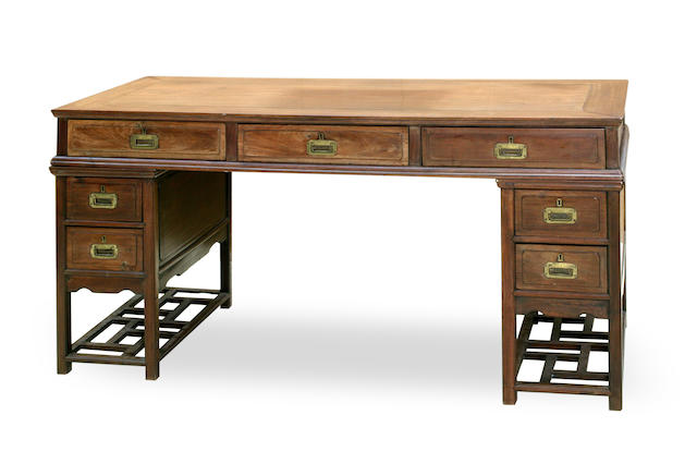 A Chinese huanghuali scholar's desk 20th century