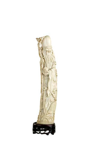 A Chinese ivory figure of Shouxin 19th century