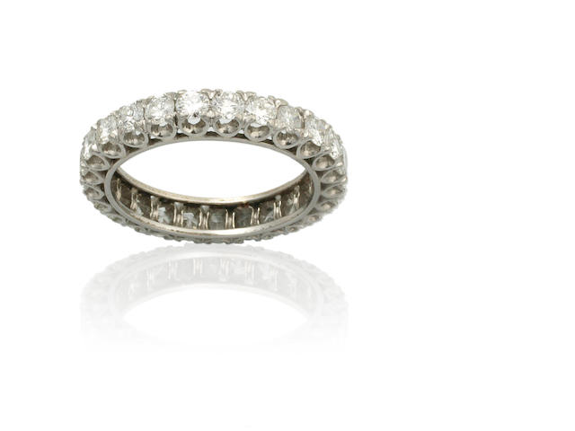 An all around diamond eternity ring