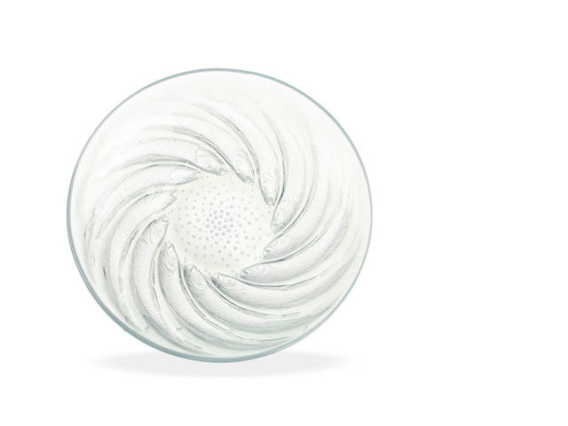 A Rene Lalique Poissons float bowl  circa 1930