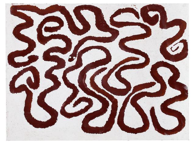 Billy Thomas (born circa 1920) Gimbeegimberraall - Fast Moving Water Snake