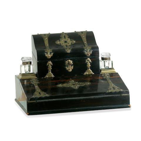 A Victorian coromandel desk set