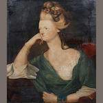 Continental School, 19th Century Portrait of a lady seated; Portrait of gentleman seated, a pair