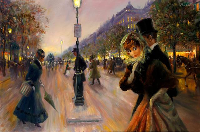 John Strevens (British, 1902-1990) 'Jours D'Autrefois'
