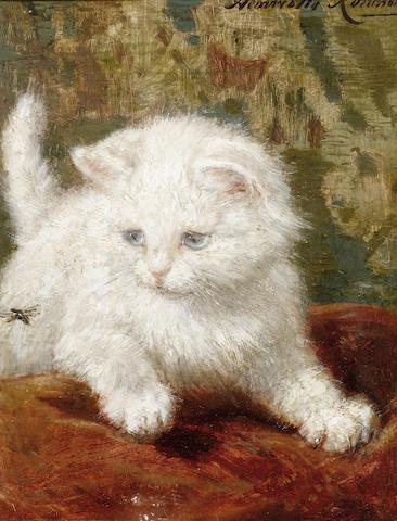 Henriette Ronner-Knip (Dutch, 1821-1909) Curiosity