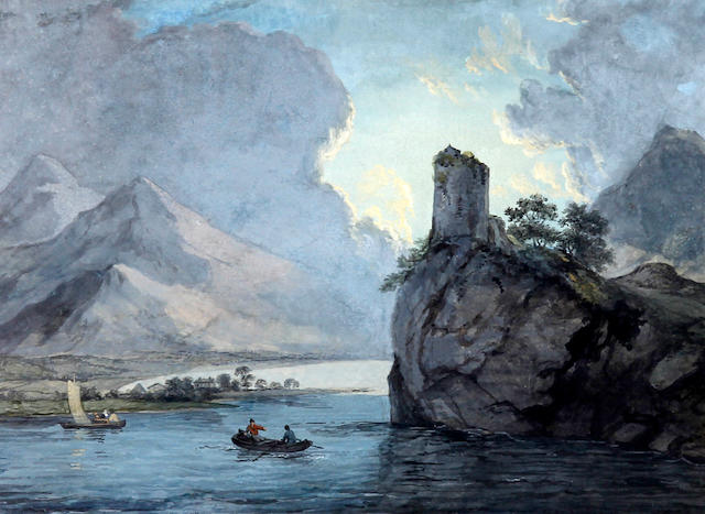 Circle of Paul Sandby, R.A. (British, 1730-1809) Dolbadarn Castle