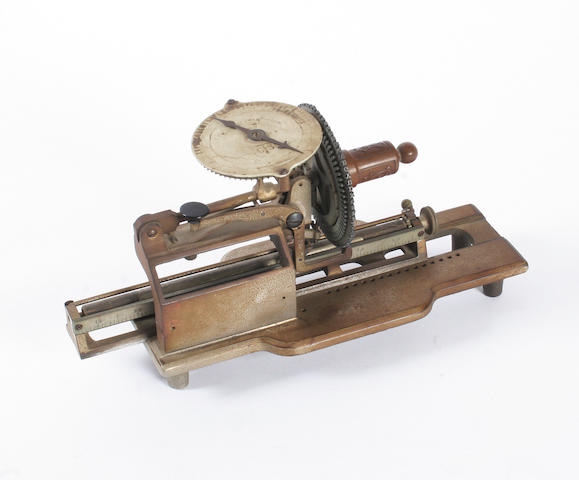 A rare Columbia No. 2 typewriter, circa 1888,