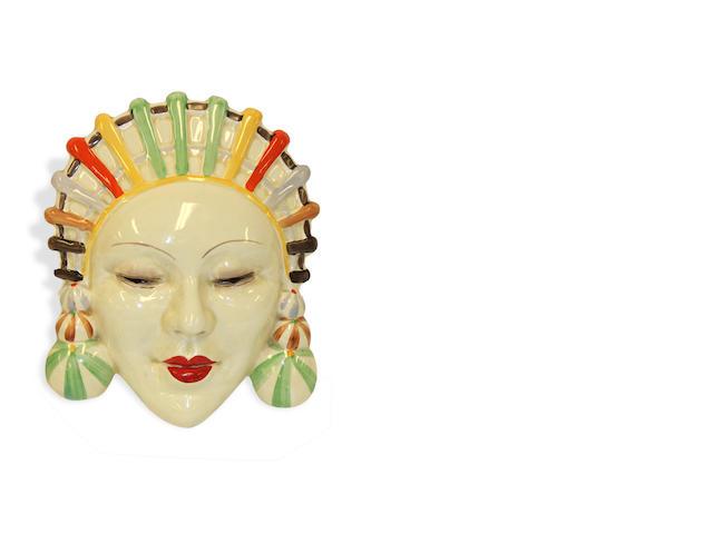 A Clarice Cliff Mask circa 1928
