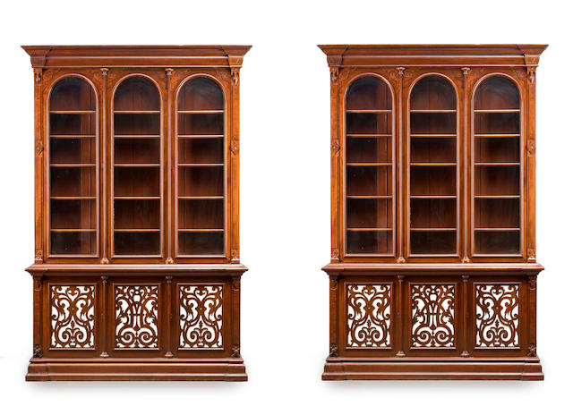 A pair of Victorian bookcases