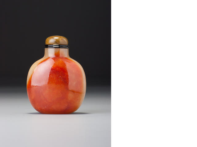 A 'red jadeite' snuff bottle 1770–1850