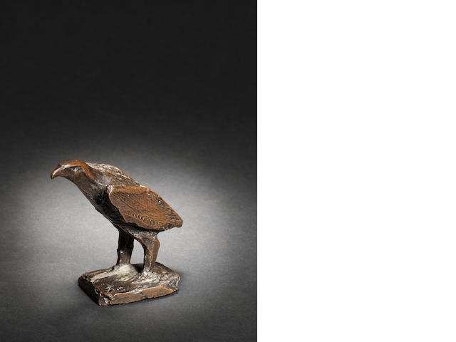 Dame Elisabeth Frink R.A. (British, 1930-1993) Buzzard 10 cm. (4 in.) long