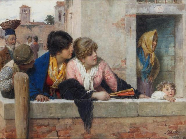 Luigi da Rios (Italian, 1844-1892) Venetian beauties