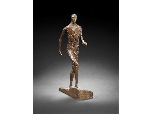 Dame Elisabeth Frink R.A. (British, 1930-1993) Man Running III 38 cm. (15 in.) high