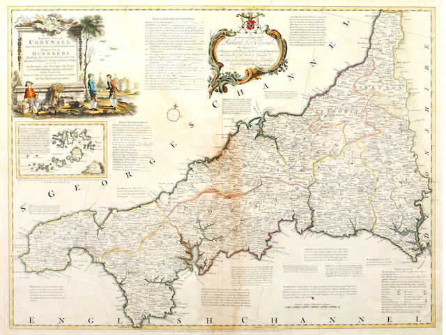 CORNWALL KITCHIN (THOMAS) A New Improved Map of Cornwall