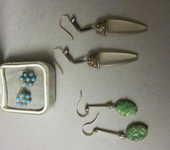 A pair of Jade earrings,