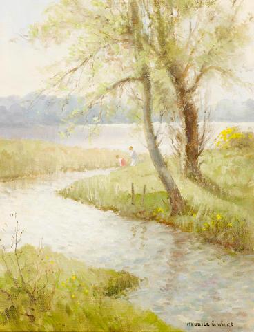 Maurice Canning Wilks R.U.A., A.R.H.A. (Irish, 1910-1984) A corner of Loughguile, Co. Antrim 46 x 36 cm. (18 x 14 in.)
