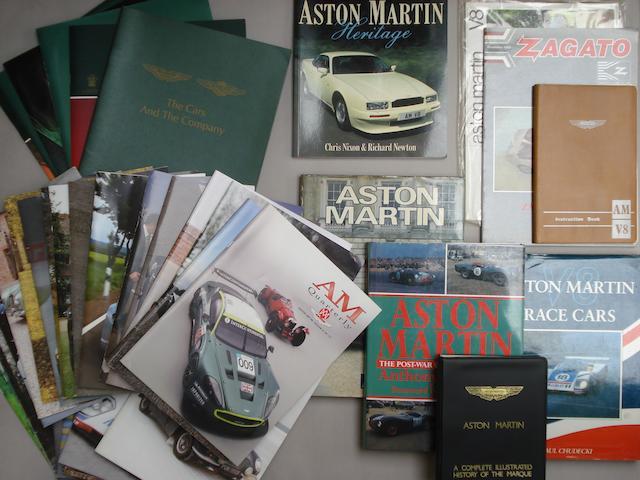 A lot of Aston Martin literature and ephemera,