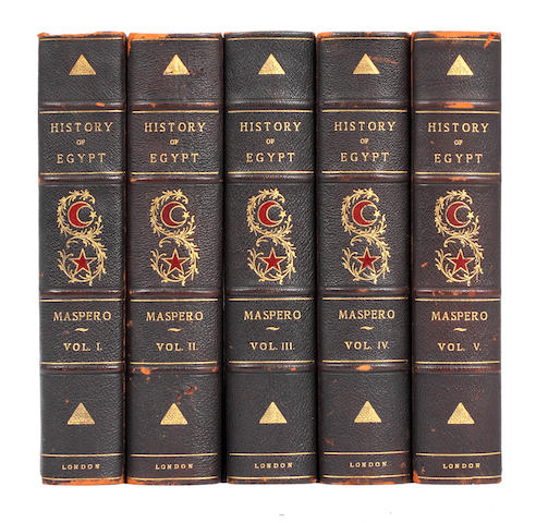 EGYPT MASPREO (GASTON) History of Egypt, Chaldea, Syria, Babylonia, and Assyria, 13 vol., NUMBER 644 OF 1,000 COPIES