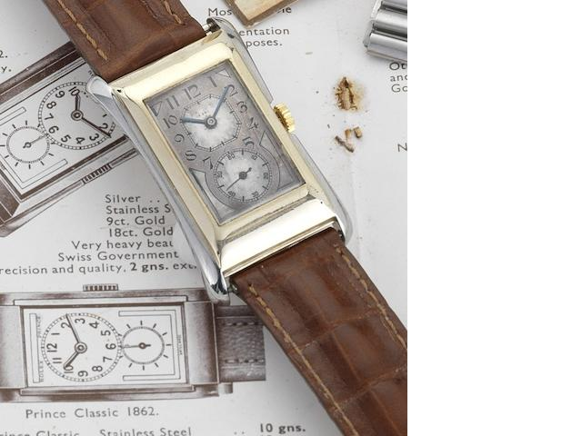 Rolex. A fine 9ct gold manual wind rectangular wristwatch Prince, Ref:971U, Movement No.75178, Glasgow Import Mark for 1930