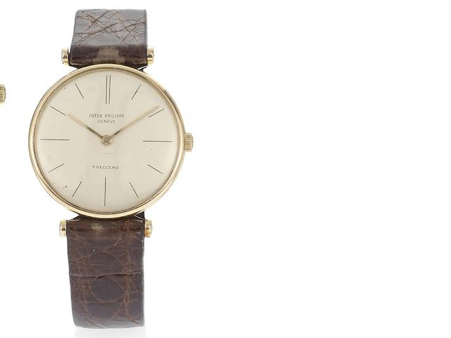 Patek Philippe. An 18ct rose gold wristwatch with barrel lugs   Ref:2592, Case No.2600231, Movement No.780451, Circa 1960