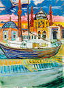 John Bratby R.A. (British, 1928-1992) Along the Bosphorus 122 x 91 cm. (48 x 36 in.)