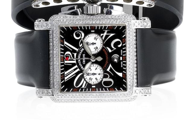 Franck Muller. A fine stainless steel and diamond set automatic chronograph calendar wristwatch Conquistador, No.474, Ref:10000CC, Circa 1998