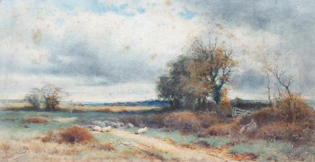 Henry John Sylvester Stannard, RBA (British, 1870-1951) The sheepdog's reward