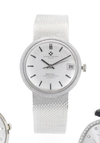 Vacheron Constantin. A fine and rare 18ct white gold automatic calendar bracelet watchRef:6734, Case No.426470, Movement No.629690, Circa 1976