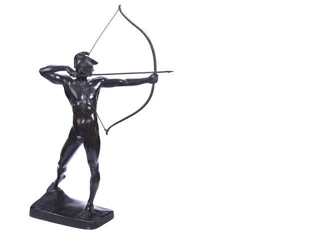 Ernst Moritz Geyger (German, 1861-1941)  A bronze figure of 'The Archer'