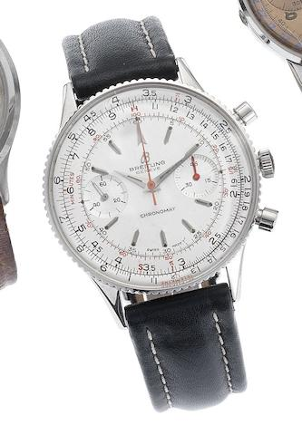 Breitling. A stainless steel manual wind chronograph wristwatch Chronomat, Circa 1965