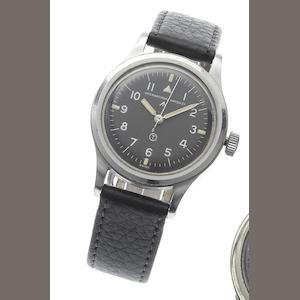 IWC. A stainless steel Military Issue wristwatch Mark XI, Issued in 1951