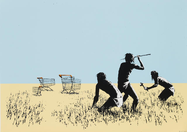 Banksy (British, born 1975) 'Trolleys' screenprint