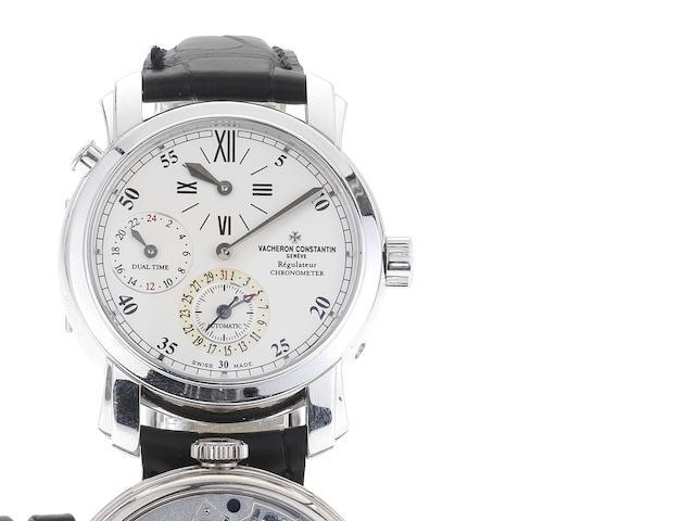Vacheron Constantin. A fine 18ct white gold automatic dual timezone wristwatch Ref:42005, Case No.728627, Movement No.909120, Sold April 2001