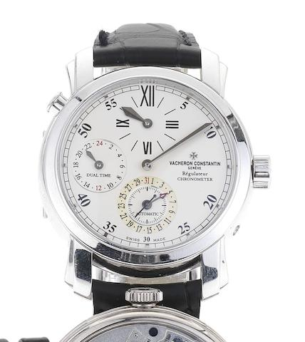 Vacheron Constantin. A fine 18ct white gold automatic dual timezone wristwatch Ref:42005, Case No.728627, Movement No.909120, Sold April 2001